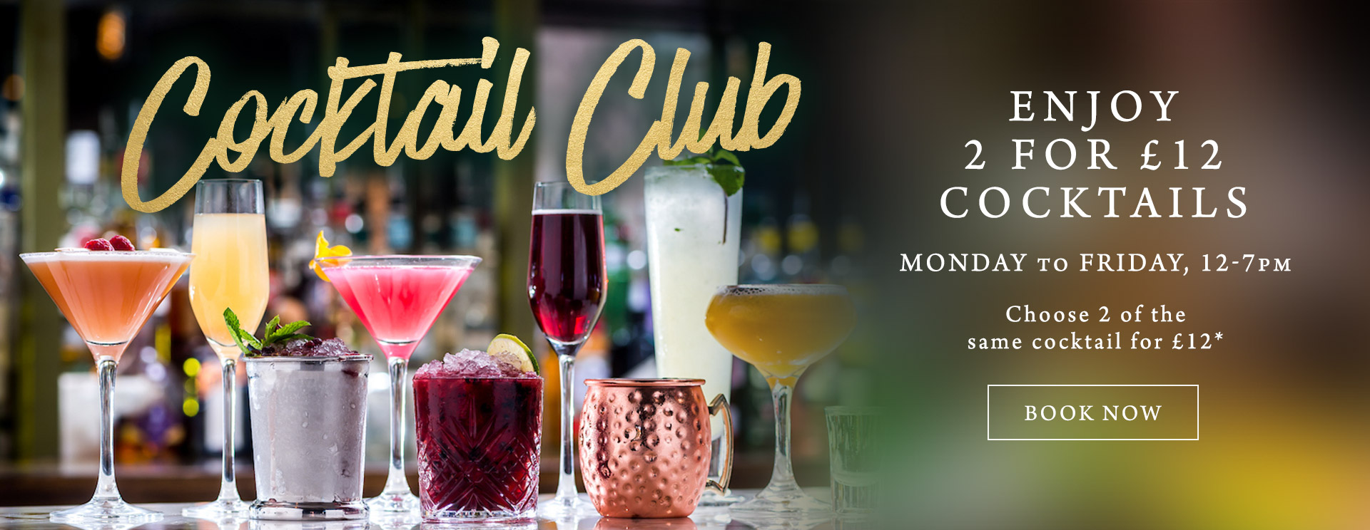 2 for £12 cocktails at Nags Head Inn Woking
